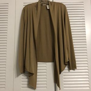 Route 66- Tan Open Front Cardigan